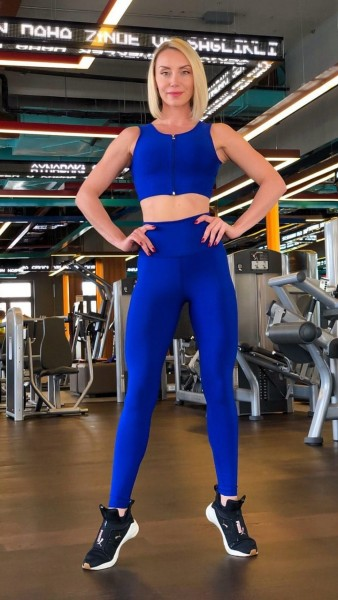 Lavola High Waisted Sport Leggings in mehrere Uni-Farben