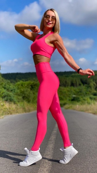 Lavola High Waisted Sport Leggings in Neon-Farben