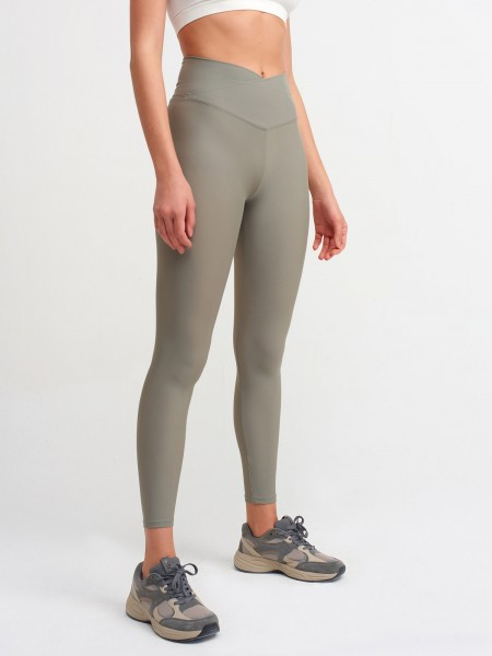 Lavola High Waisted Leggings mit Überkreuzten Taillenbund (Cross Waist)