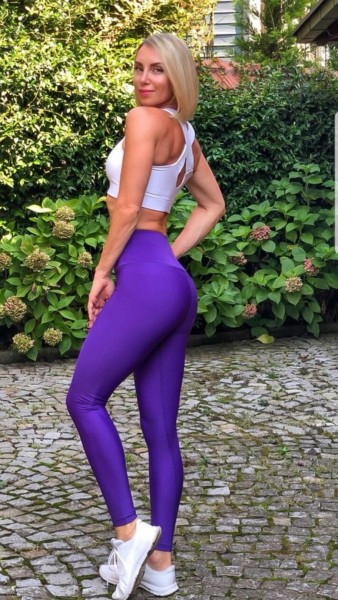 Lavola High Waisted Sport Leggings Flat (Lila)
