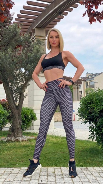 Lavola High Waisted Sport Leggings Netz Muster